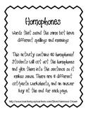 Homophone sentences cut and paste