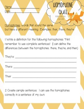 Homophones: their, they're, there
