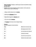 Homophone worksheets