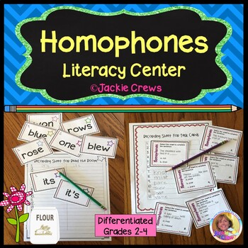 Homophones Literacy Center: Differentiated