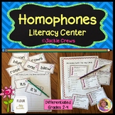 Homophones Literacy Center: Differentiated