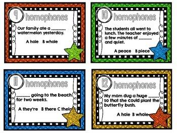 Homophones-12 Task Cards-Set Two