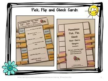 Homophones Activity: Homophones Clip Cards Set 1
