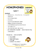 Homophones  PRACTICE and REVIEW TASK CARDS | Early Finishers  Gr 3-4-5