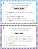Homophones List and Task Cards for Lower Grades