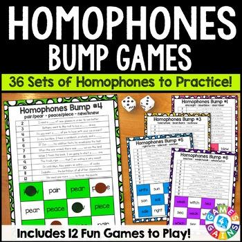 Homophones Activity: 12 Homophones Games (Bump!)