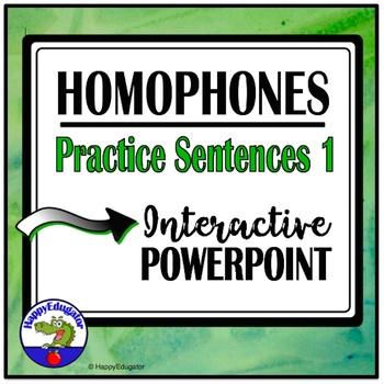 Homophones 1 - Interactive PowerPoint Practice - TEST PREP