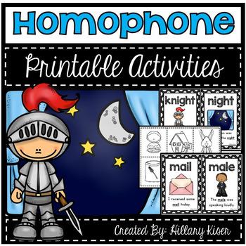 Homophone Printable Activities