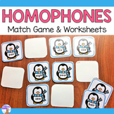 Homophones Match Game (Penguins)