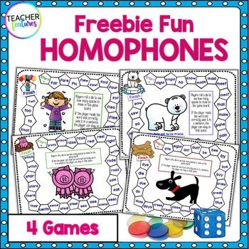 Homophones Games (FREEBIE)