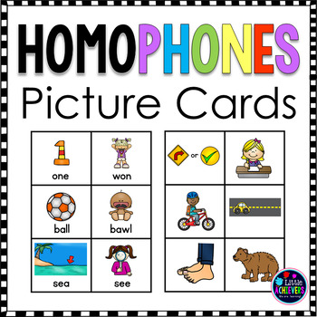 Homophones Game Picture cards