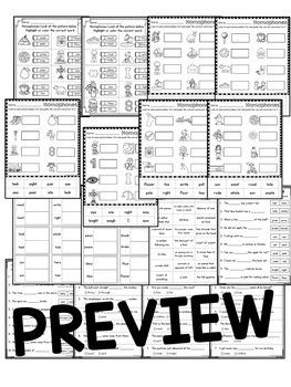 Homophones Worksheets and Activities