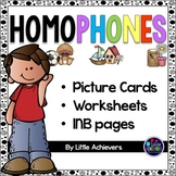 Homophones Worksheets and Homophone Activities BUNDLE