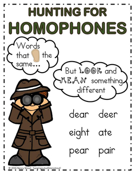 Homophones for Grades 1&2 (Anchor chart and Foldable)