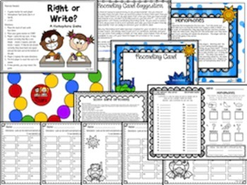 Homophones Task Cards and Activities
