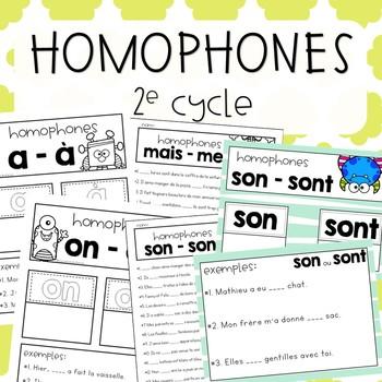 Homophones - 2e cycle -  Ensemble grandissant avec documents modifiables