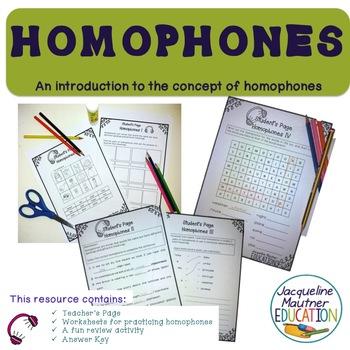 No Prep Homophones Lessons