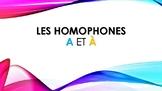 Homophones A & À