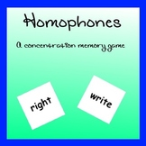 Homophones - A Concentration Memory Game