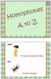 Homophones A to Z