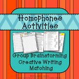 Homophones No Prep Activities