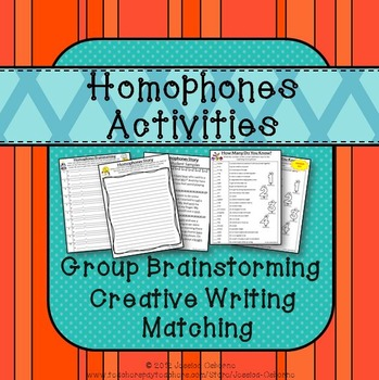 Homophones No Prep Activities