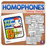 Homophones Activities (Homophone Coloring)