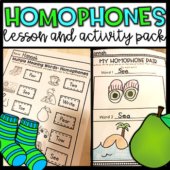 Homophones: Activities and Lesson Ideas