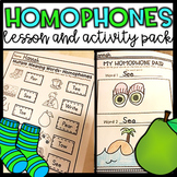 Homophones Activities and Lesson Ideas