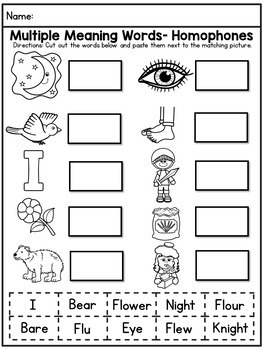 Homophones Activities and Lesson Ideas Bundle