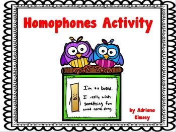 ActivInspire Homophone Activities