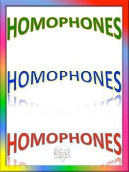 Interactive Homophones Activity Packet