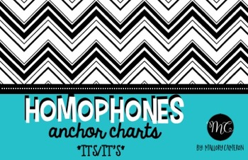Homophones Anchor Charts * [It's, Its]