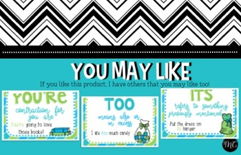 Homophones Anchor Charts * [They're, There, Their]