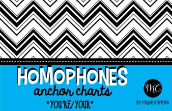 Homophones Anchor Charts * [You're, Your]