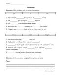 Homophones Assessment