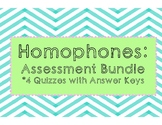 Homophones Assessment Bundle