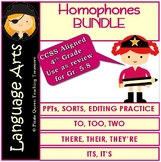 Homophones BUNDLE: Its-There-To/CCSS  Grade  4