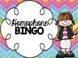 Homophones Bingo