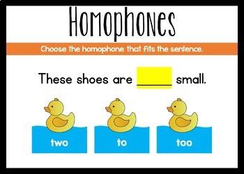 Homophones Boom Cards (Digital Task Cards)