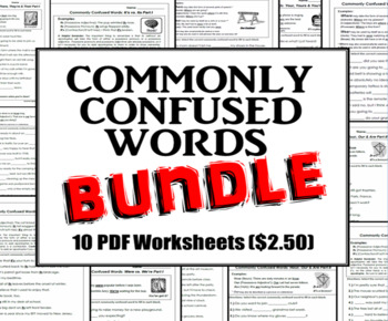Homophones Bundle: Commonly Confused Words Series by Jacob Lightbody