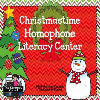 Christmas Homophones {Anchor Charts, Word Cards & MORE!}