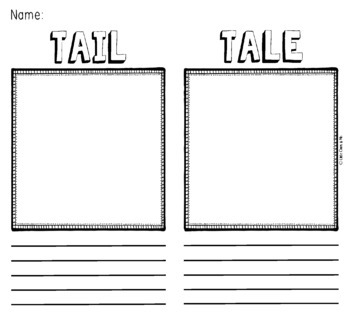 Homophones Classroom Booklet Activity