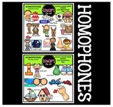 Homophones Clip Art Bundle {Educlips Clipart}