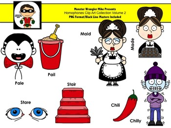 Homophones Clip Art Collection Volume 2