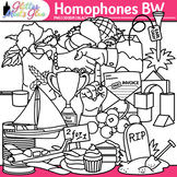Homophone Clip Art: ELA Graphics B&W {Glitter Meets Glue}
