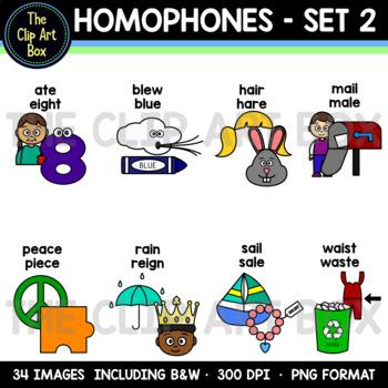 Homophones - Clip Art - Set 2