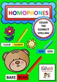 Homophones (Color the Correct Spellings)