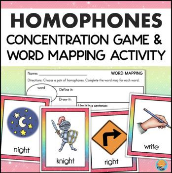 Homophones Game Literacy Center