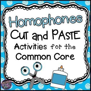 Homophones Cut and Paste Printables (Homonyms)